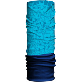 HAD Fleece Tube Scarf Kids pets blue/navy